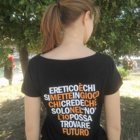 Retro maglietta di Libera eretico da donna