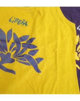 Le canottiere di Libera, mimosa e violet
